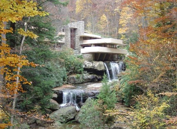 Fall Foliage Falling Water