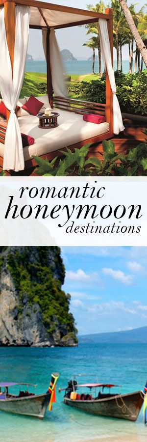 Whatever your budget for time, distance and budget is, here's Travel Channel's Samantha Brown's list of best honeymoon destinations.