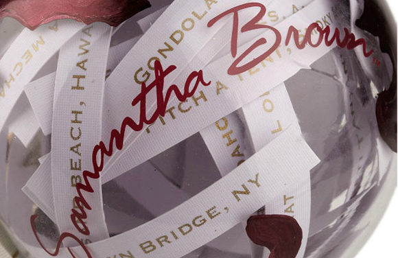 Samantha Brown 2012 Ornament by HSN