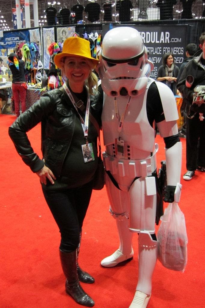 Samantha Brown Star Wars Storm Trooper