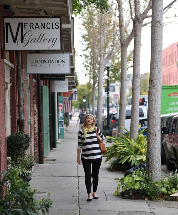 Samantha Brown Pregnant - Photos New Orleans