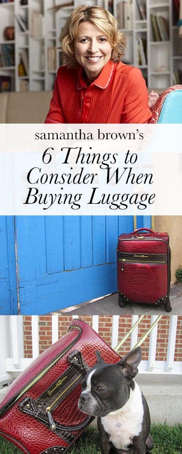 I get this question all the time: What should I consider when buying luggage? One thing I've learned is that there is not one piece of luggage that fits everyone's needs or travel personality. How I travel is probably very different from how you travel. Here are some tips to ensure the next piece you buy is a love match.