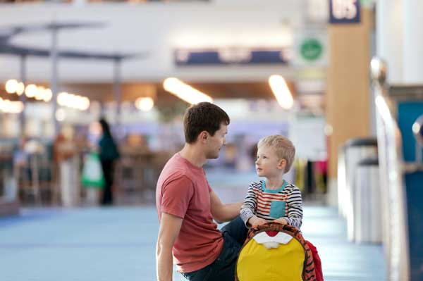 Father-Son-Airport