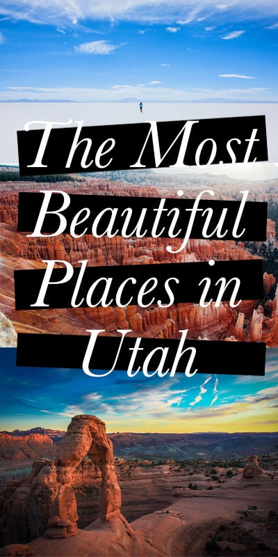 With its towering red rocks, hoodoos and salt flats, the Beehive State will leave you speechless. Here are the most beautiful places in Utah.
