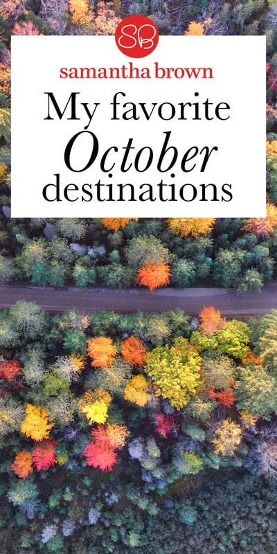 There is so much talk about eating seasonally. Why not take that same approach to travel? Destinations simply shine certain times of the year. With that in mind, here's a few destinations you should consider in October.
