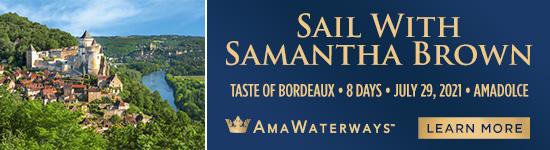 sail with samantha brown - amawaterways