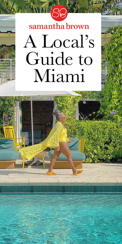 """Sarah Greaves-Gabbadon (aka JetSetSarah) is a travel writer, on-screen host and self-described """"Carivangelist,"""" who goes to the beach and beyond to share the culture, lifestyle and personalities of the Caribbean with the world. Here's Sarah's favorite spots in Miami."""